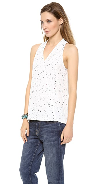 Tibi Splatter Dot Halter Top