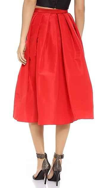 Tibi Faille Skirt