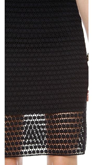 Tibi Lace Pencil Skirt
