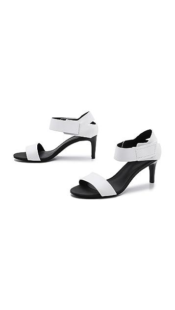 Tibi Baxter Mid Heel Sandals