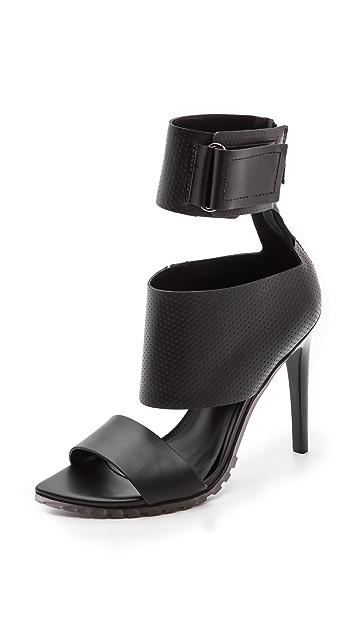 Tibi Evie Ankle Cuff Sandals