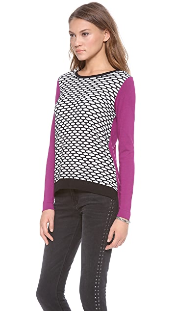Tibi Mesh Easy Sweater