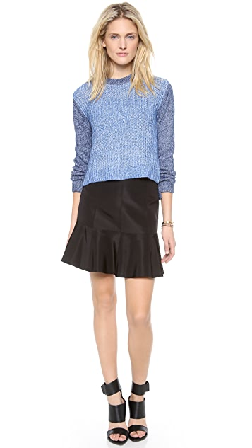 Tibi Easy Slouchy Crop Pullover