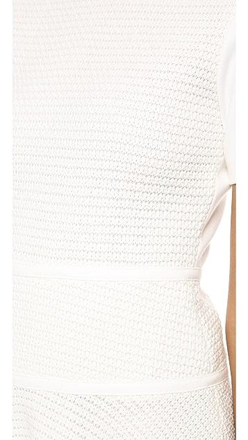 Tibi Vika Crochet Combo Dress