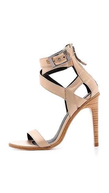 Tibi Vanya Cross Strap Sandals