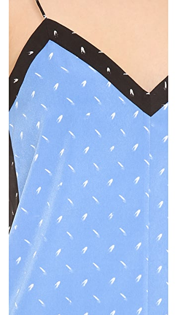 Tibi Metal Hatch Print Camisole