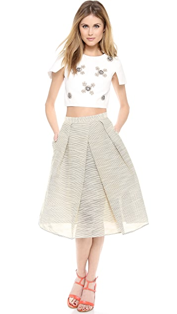 Tibi Full Pleated Skirt