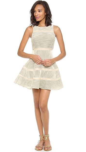 Tibi Sleeveless Cotton Stripe Dress
