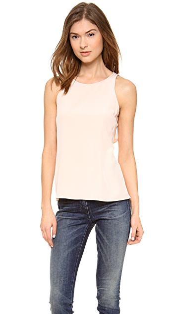 Tibi Cape Back Sleeveless Top