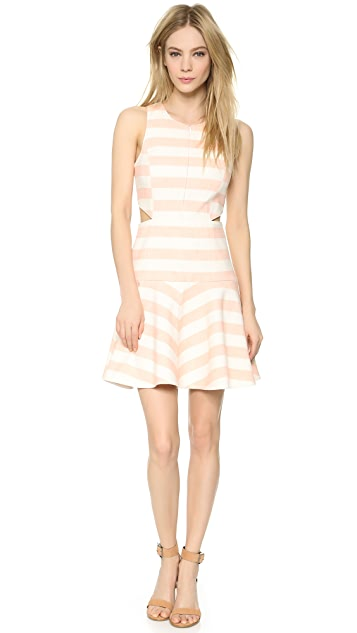 Tibi Blanket Stripe Flirty Dress