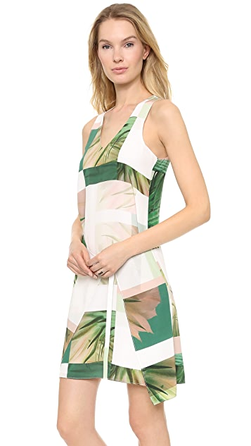 Tibi Sleeveless Fiore di Cactus Printed Dress