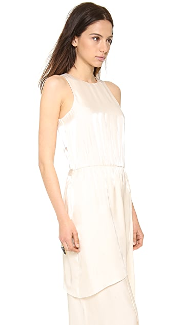 Tibi Flume Asymmetrical Wrap Dress