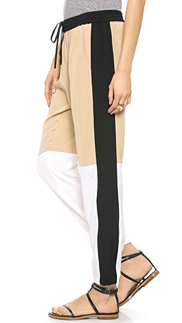 Tibi Paneled Jogging Pants