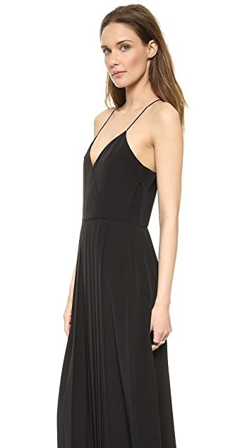 Tibi Pleated Maxi Dress