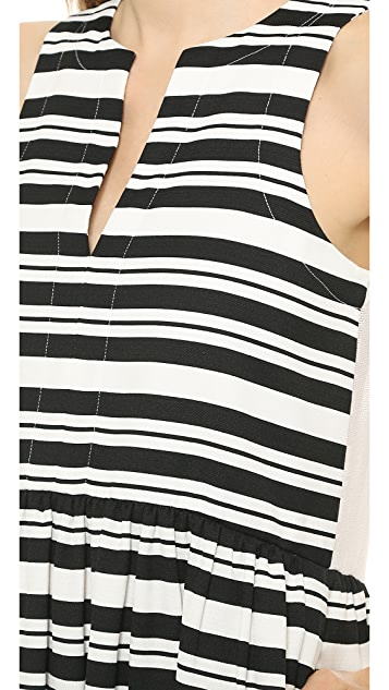 Tibi Sleeveless Summer Stripe Dress