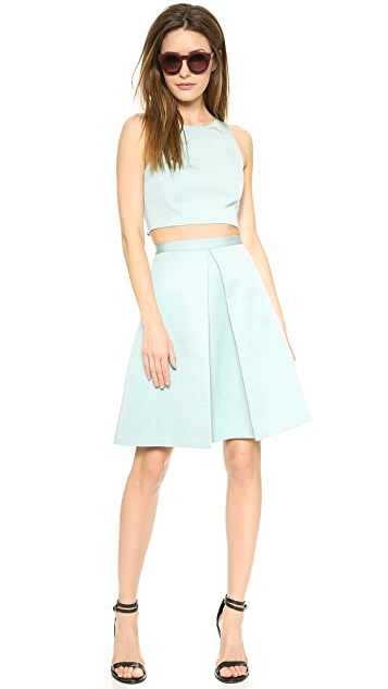 Tibi Pleat Skirt