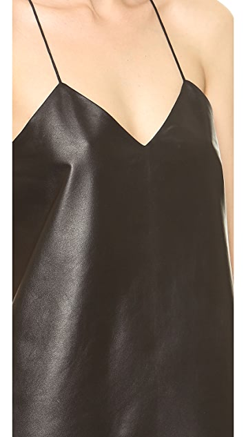 Tibi Leather Camisole