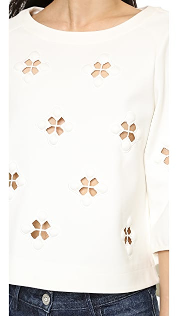 Tibi 3/4 Sleeve Top