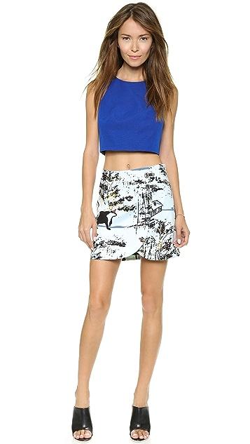 Tibi Miniskirt with Clasp Detail