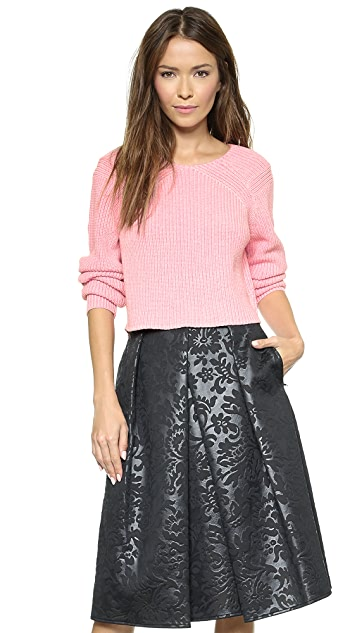 Tibi Cropped Pullover