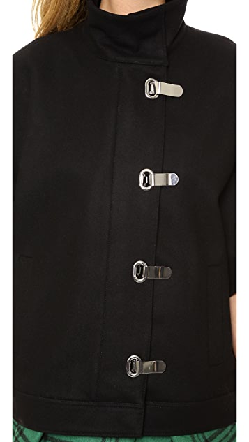 Tibi Wool Cape Jacket