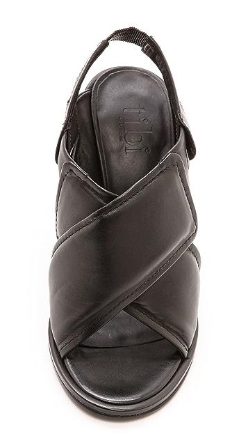 Tibi Cleo Cross Strap Sandals