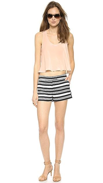 Tibi Summer Stripe Shorts