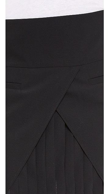 Tibi Miniskirt with Pleat Detail