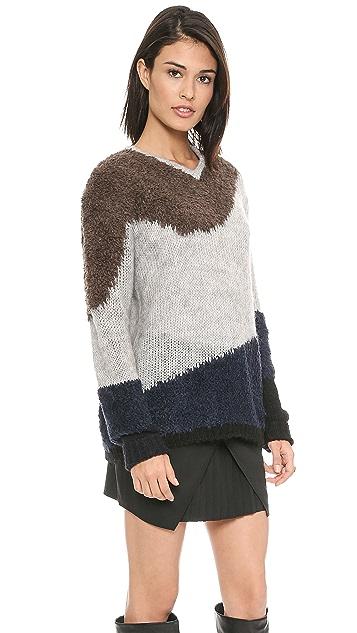 Tibi V Neck Pullover