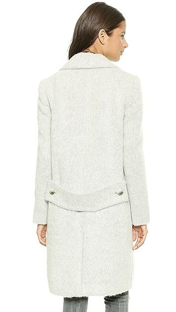 Tibi Mohair Maxi Coat