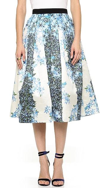 9907800283 Tibi Floral Silk Full Skirt | SHOPBOP
