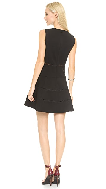Tibi Flirty V Neck Dress