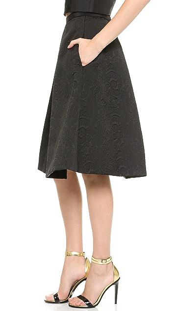 Tibi Lia Jacquard Full Skirt