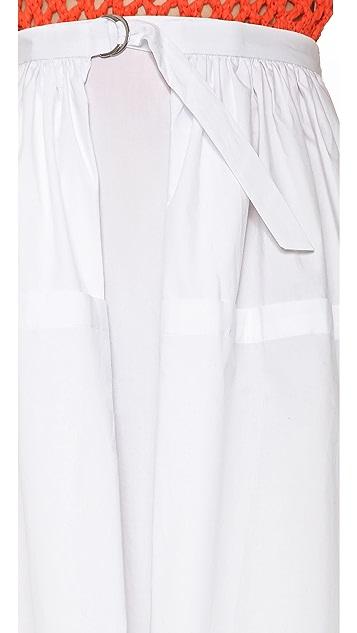 Tibi Ultra Matte Poplin Full Skirt