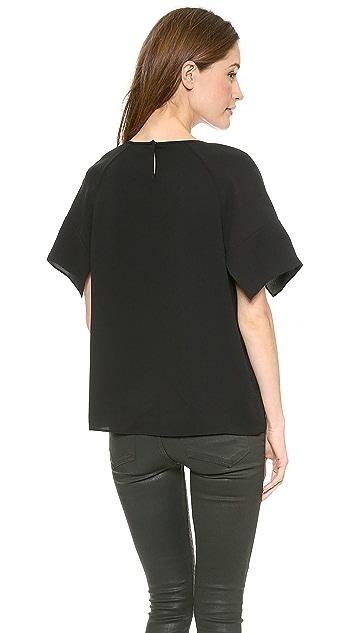 Tibi Split Sleeve Top