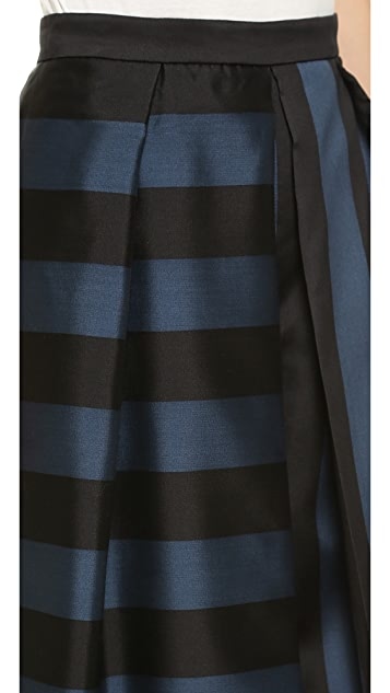 Tibi Escalante Stripe Pleated Pants
