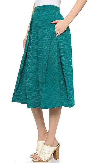 Tibi Flat Origami Skirt
