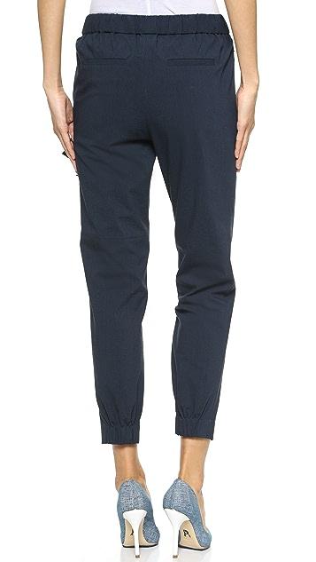 Tibi Side Tie Jogging Pants