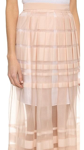 Tibi Striped Skirt