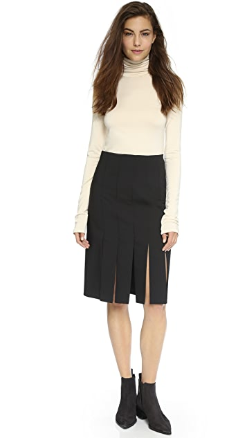 Tibi Car Wash Skirt