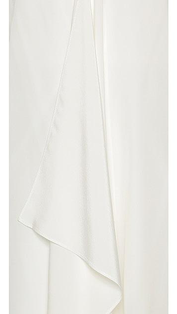 Tibi Strapless Silk Towel Dress