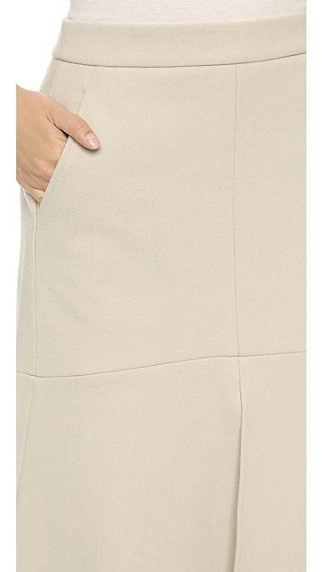 Tibi Front Slit Midi Skirt