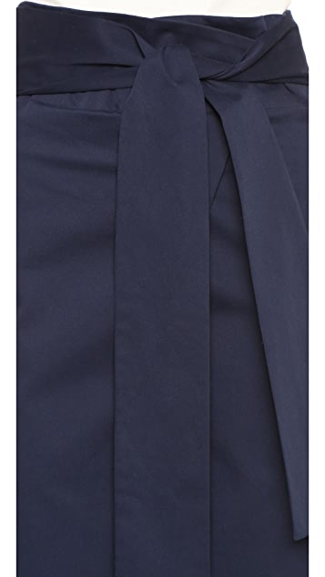 Tibi Luxe Brushed Paper Bag Pants