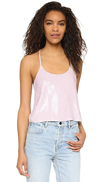 Tibi Allover Sequin Cami Top