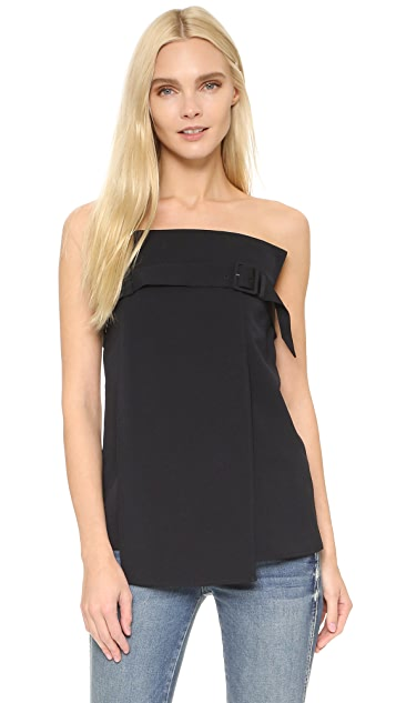 Tibi Strapless Trench Top