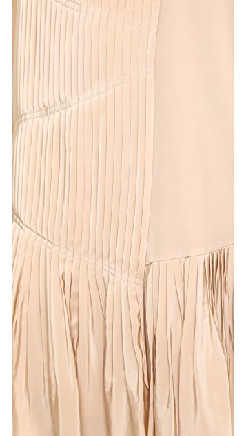 Tibi Pleated Strappy Dress