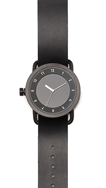 TID Watches No. 1 Leather Strap Watch