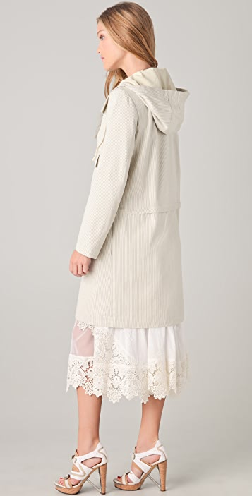 Timo Weiland Pinstripe Canvas Anorak