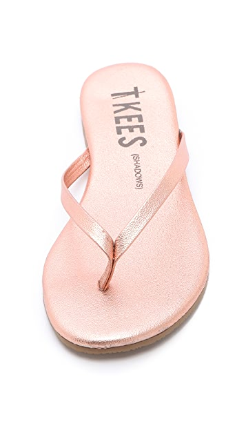 TKEES Shadows Metallic Flip Flops