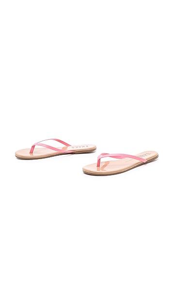 TKEES Colored Tips Flip Flops